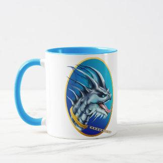 Dragon and Gold Chain Oval Mug