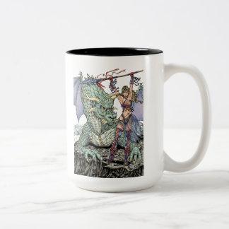 Dragon and Maiden Mug