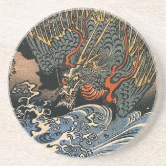 Dragon at Sea Beverage Coasters