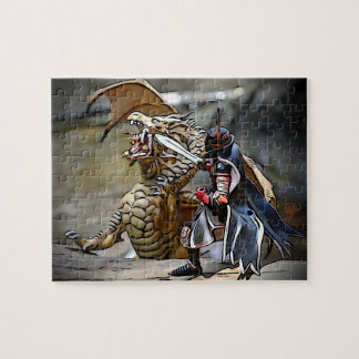 Dragon Battle at the River Jigsaw Puzzle