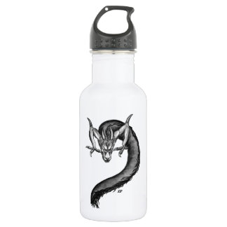 Dragon black and white Design 532 Ml Water Bottle