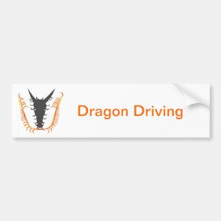 Dragon Breathing Fire Car Bumper Sticker