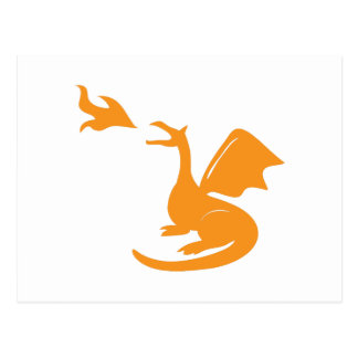 Dragon Breathing Fire Postcard