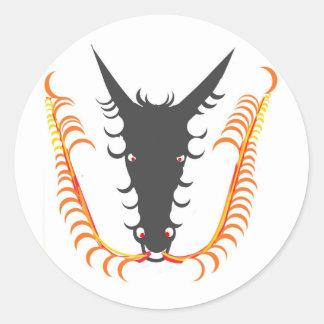 Dragon Breathing Fire Round Sticker