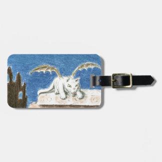 Dragon cat luggage tag