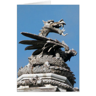 Dragon, City Hall, Cardiff, Wales, UK Card