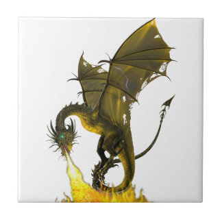 Dragon Fire Breath Ceramic Tile