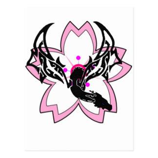 Dragon Flower Cherry Blossom Postcard