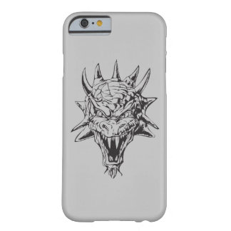 Dragon Head on Silver Barely There iPhone 6 Case