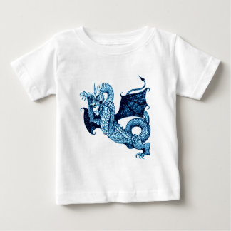 DRAGON IN BATTLE MEDIEVAL PRINT IN BLUE BABY T-Shirt