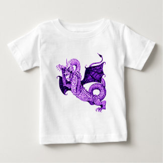 DRAGON IN BATTLE MEDIEVAL PRINT IN PURPLE BABY T-Shirt