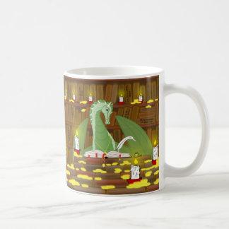 Dragon library coffee mug