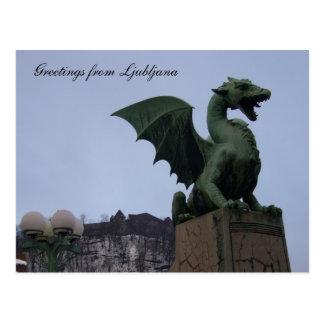 dragon ljubljana postcard