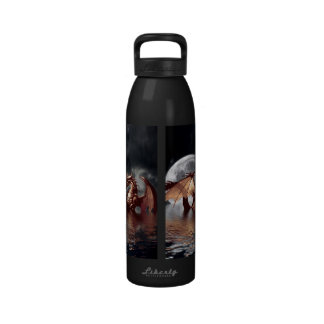 Dragon Moon Fantasy Mythical Water Bottle