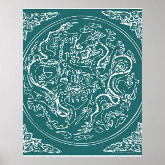 Dragon pattern, full frame poster