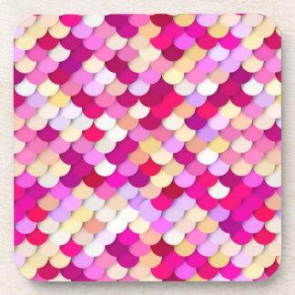 """Dragon Scales"" - magenta, pink and gold Coaster"