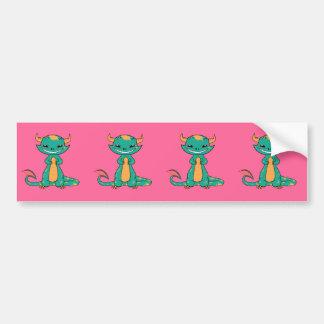 Dragon Smiling, Cute Cartoon Bumper Sticker