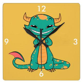 Dragon Smiling, Cute Cartoon Clock