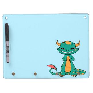 Dragon Smiling, Cute Cartoon Dry Erase Boards