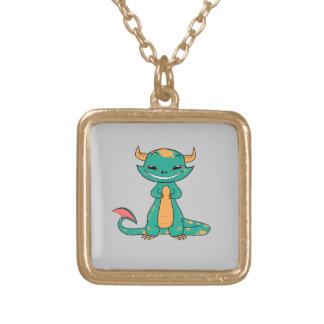 Dragon Smiling, Cute Cartoon Custom Necklace