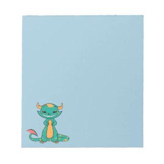 Dragon Smiling, Cute Cartoon Memo Note Pads