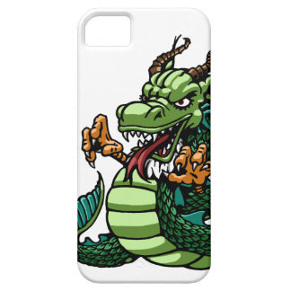 Dragon tattoo design in bold colors. iPhone 5 case