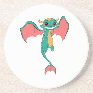 Dragon Wings, Cute Cartoon Drink Coasters