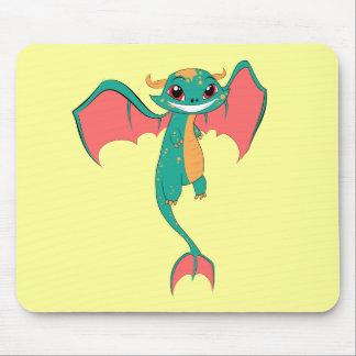 Dragon Wings, Cute Cartoon Mousepad