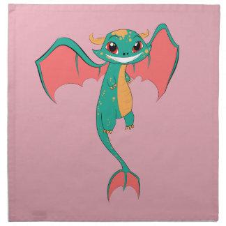 Dragon Wings, Cute Cartoon Cloth Napkins