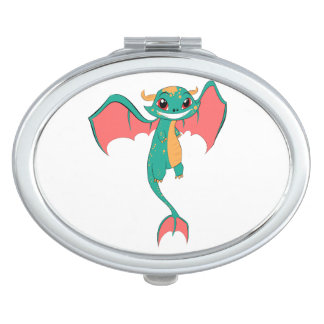 Dragon Wings, Cute Cartoon Mirror For Makeup