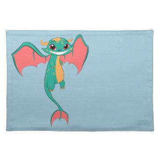 Dragon Wings, Cute Cartoon Cloth Place Mat