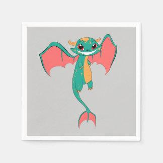 Dragon Wings, Cute Cartoon Paper Napkins