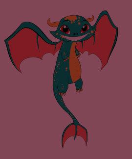 Dragon Wings, Cute Cartoon Tees