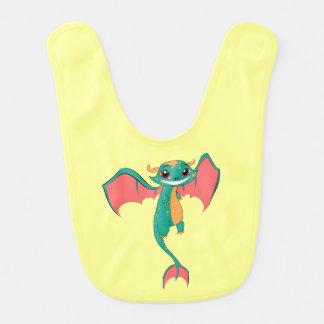 Dragon Wings, Cute Cartoon Baby Bib
