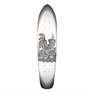 Dragon with Zombie Skate Deck