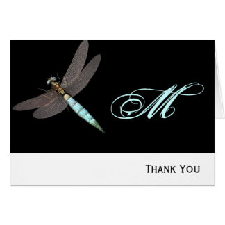 Dragonfly Monogram Business Card