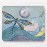 Dragonfly Moon Mousepad