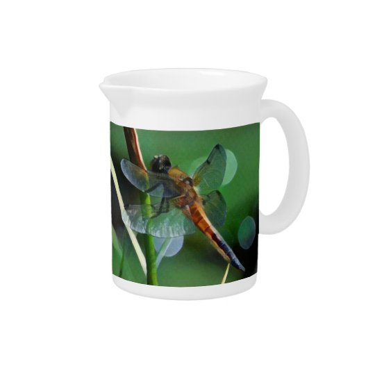 Dragonfly Painting Beverage Pitcher