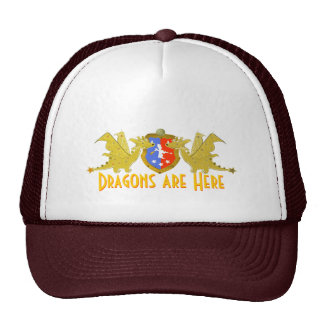 Dragons Are Here Cartoon Dragon Cap