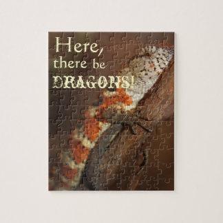 Dragons, Orange Lizard Jigsaw Puzzle