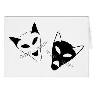 Drama Cats Birthday Card