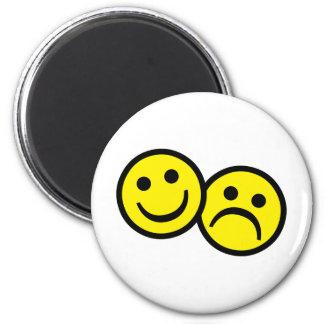 Drama Mask Smiley's 6 Cm Round Magnet