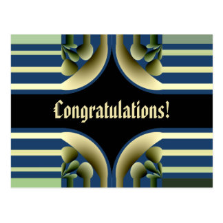 Dramatic! Colorful Abstract -- Congratulations! Postcard