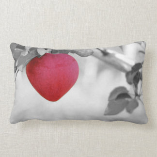 Dramatic Red Heart Shaped Apple Throw Pillow