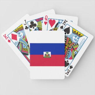 Drapeau d'Haïti - Flag of Haiti Bicycle Playing Cards