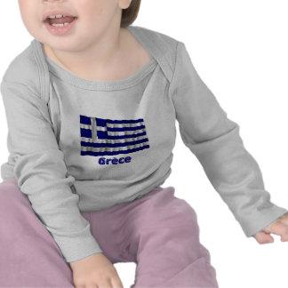 Drapeau Grèce avec le nom en français T Shirt