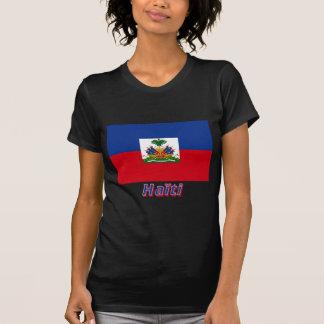 Drapeau Haïti avec le nom en français Tee Shirt