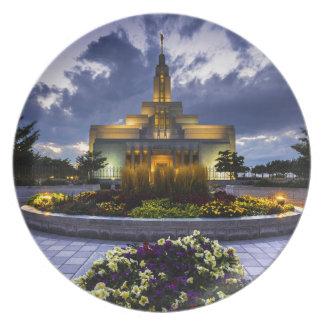 Draper Mormon Lds Temple - Utah Plate
