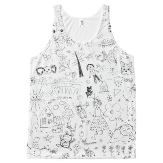 Draw All-Over Print Singlet