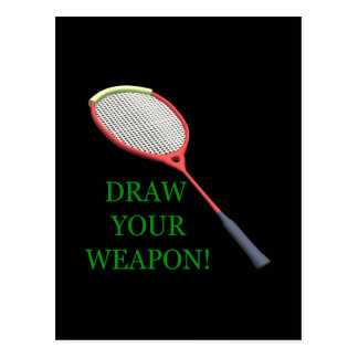 Draw Your Weapon Postcard